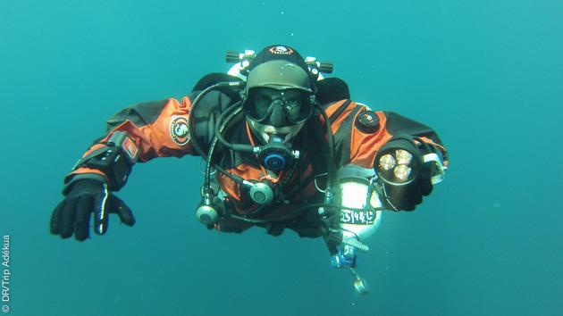 formation à la plongée profonde tec dans de très bonnes conditions à Nikiti