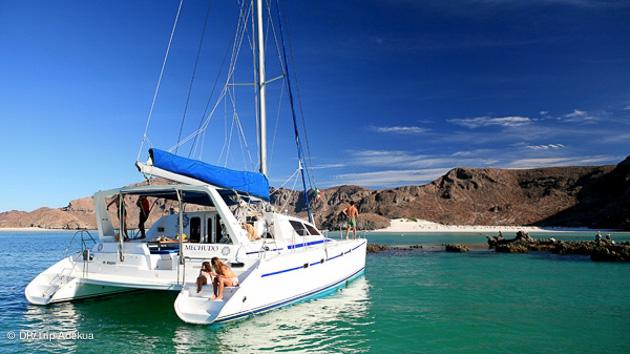 beau catamaran pour une croisière plongée en mer de cortez