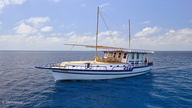 votre bateau hôtel pendant votre croisière plongée aux Maldives