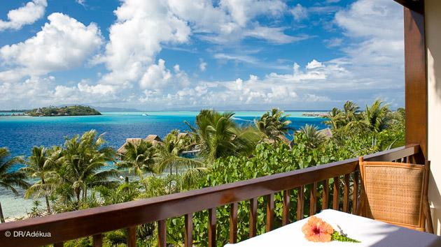 Hôtel de rêve pour vos vacances plongée à Tahiti : la vue depuis votre chambre à Bora Bora