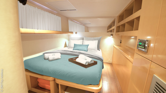 Un catamaran de luxe vous attend pour cette croisière plongée aux Seychelles