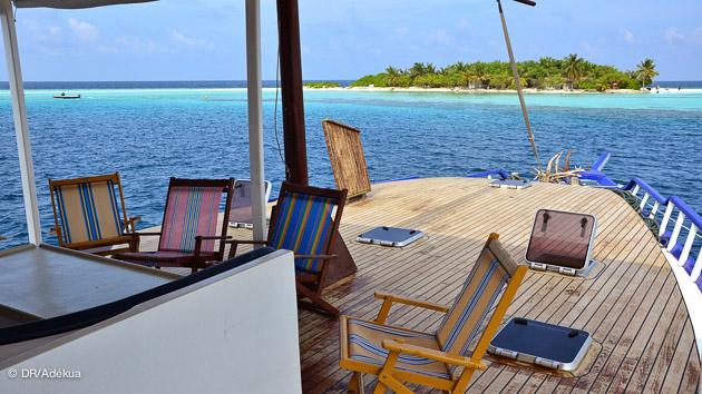 vue imprenable sur le paradis des Maldive