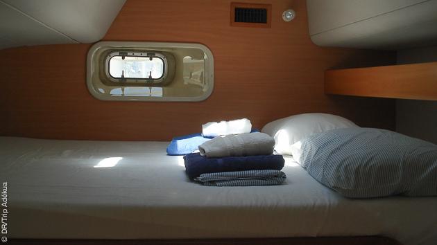 votre cabine tout confort pendant votre croisière plongée en mer de Cortez