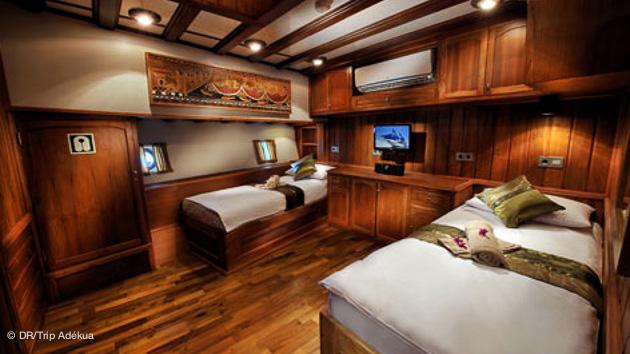 votre cabine luxe sur le bateau plongée à Palau