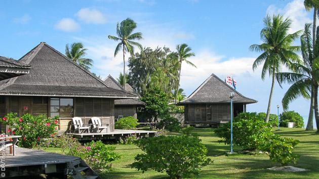 votre hotel au bord du Pacifique lors de votre itinéraire plongée en Polynésie
