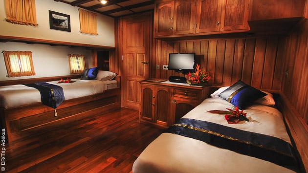 Votre cabine tout confort pour un repos mérité après vos plongées