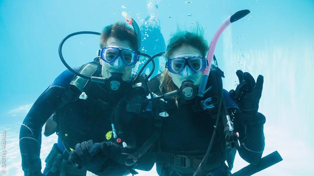 sejour avec stage de formation plongée sous marine