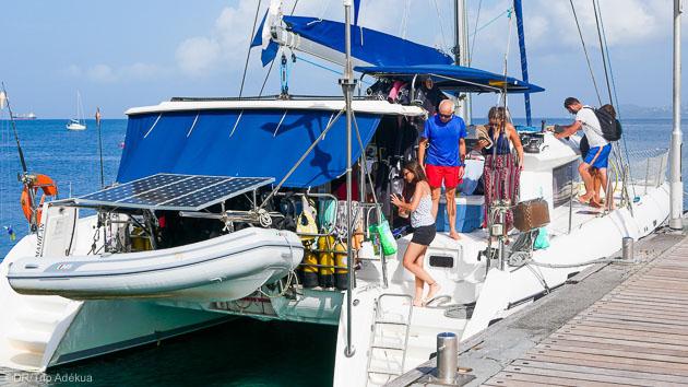 Plongez à partir d'un catamaran tout confort en Martinique