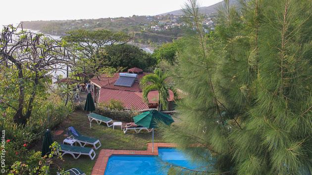 vue sur les Caraïbes depuis votre chambre d'hotel à la Dominique