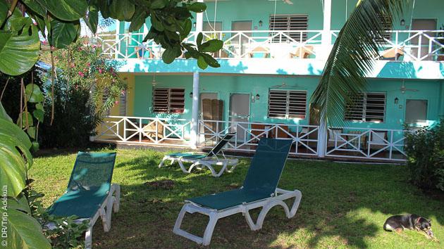 tranquille après vos immersions à la dominique dans le jardin de votre hôtel