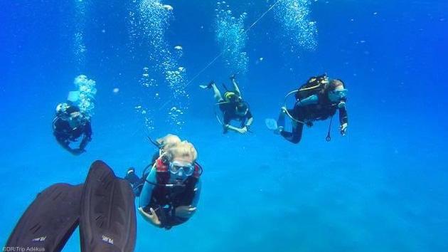 6 plongées avec blocs et plombs fournis pendant votre séjour à l'île Maurice