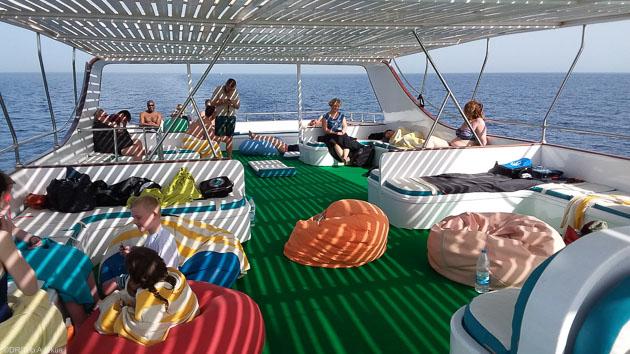 Votre bateau pour des plongées à la journée pendant votre séjour à Safaga