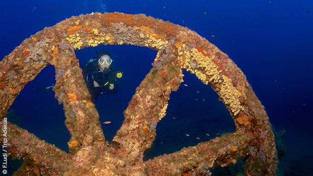 Plongées découvertes sur les épaves dans le Var