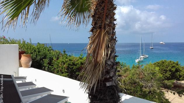 vue splendide depuis notre location de maison à Ibiza