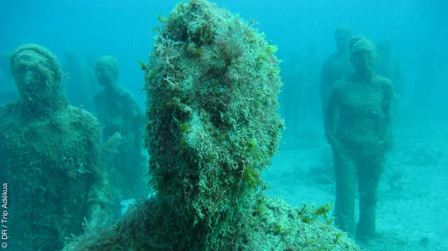 l'étonnant Museo sous marin à Lanzarote