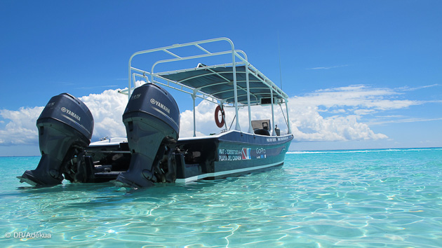 Nous vous transportons vers les sites de plongée autour de Playa del Carmen
