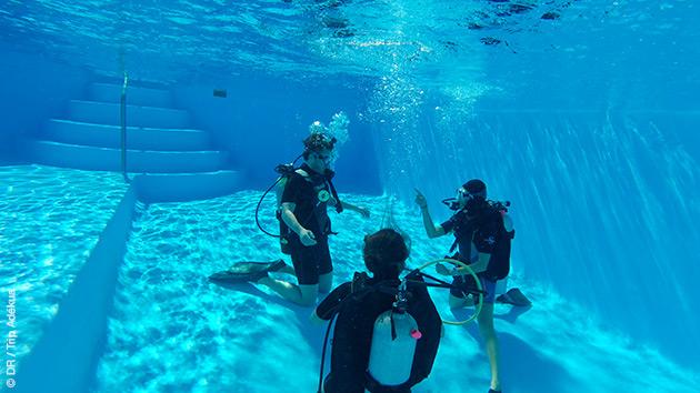 Formation plongée en piscine et immersions dans la mer des Bahamas, en toute sécurité