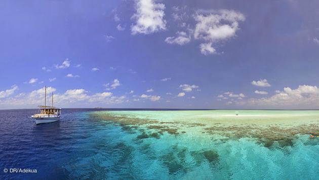 première halte sur votre croisière plongée de rêve dans l'archipel des Maldives