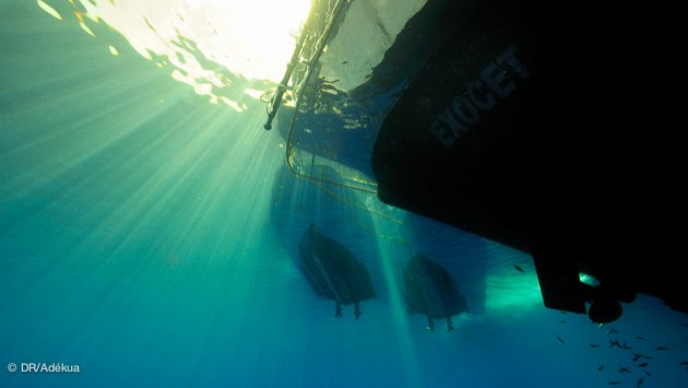 votre bateau pour la croisière egypte vue du fonds en plongée